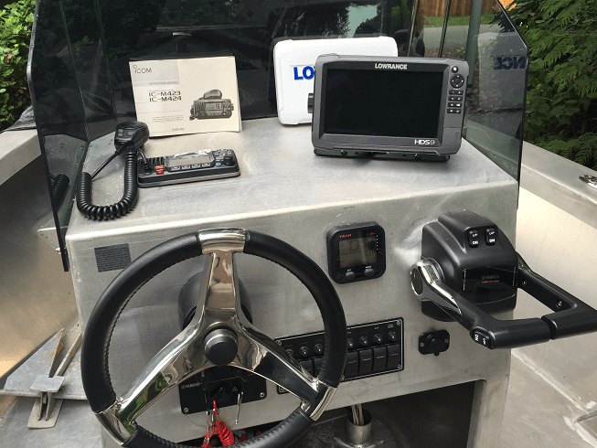 Custom Console for 19' Fishing Boat