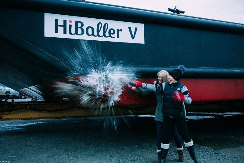 Christening the HiBaller V Barge