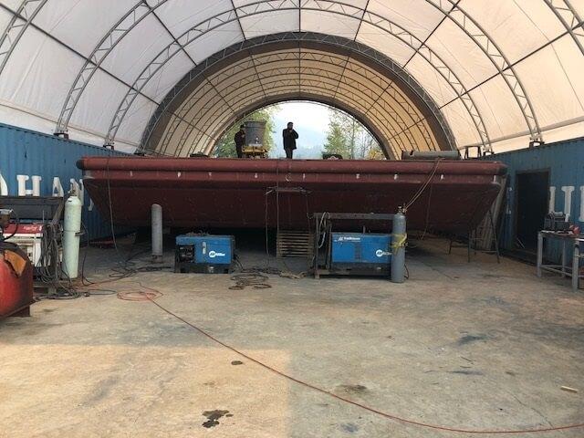 Christening the HiBaller V Barge